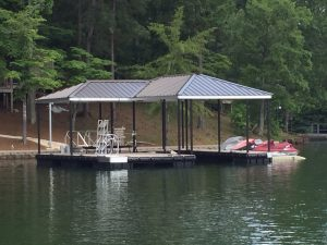 The Hip and a Half allows you the best of everything! you have a covered area to entertain, sundeck for play, and a covered boat slip. All with the same beauty as other roof designs!